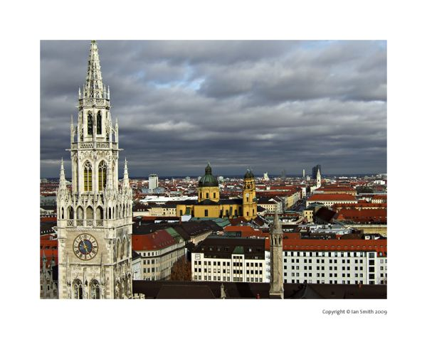 View from St Peter's Church, Munich, Germany