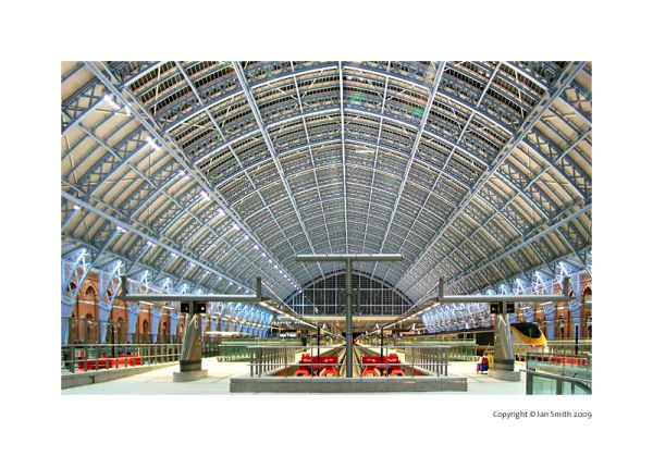St Pancras Internation train station, London