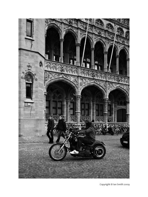The Provinciaal Hof, Motorbike, Bruges, Belgium