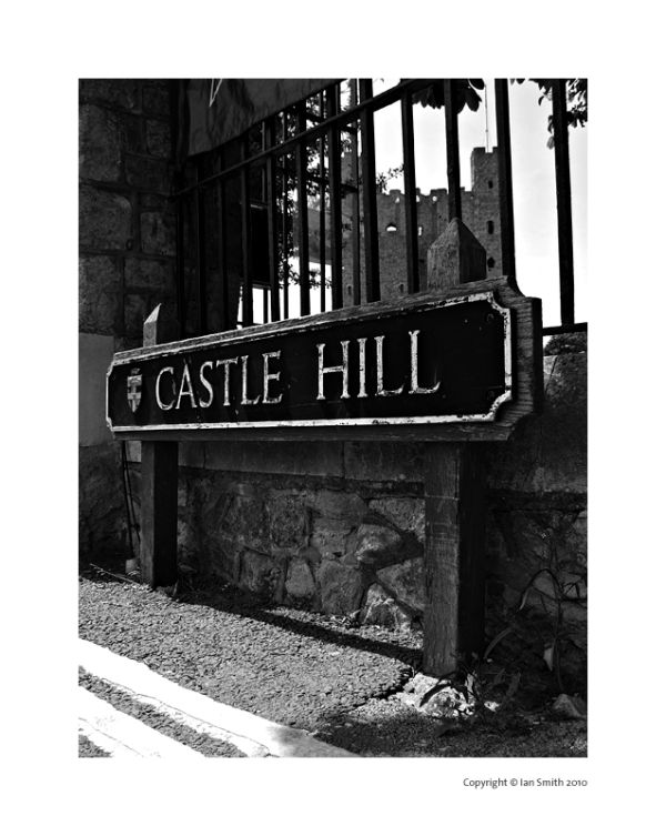 Castle Hill road sign, Rochester