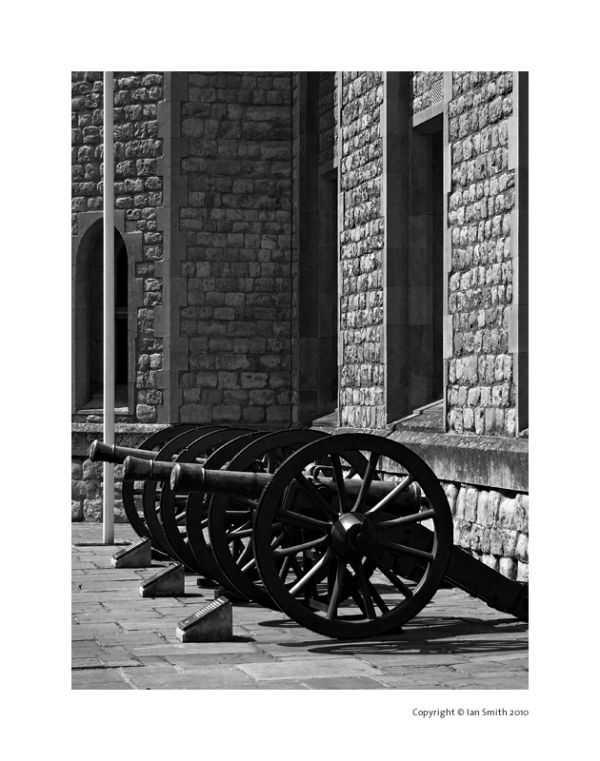 Canons at the Tower of London