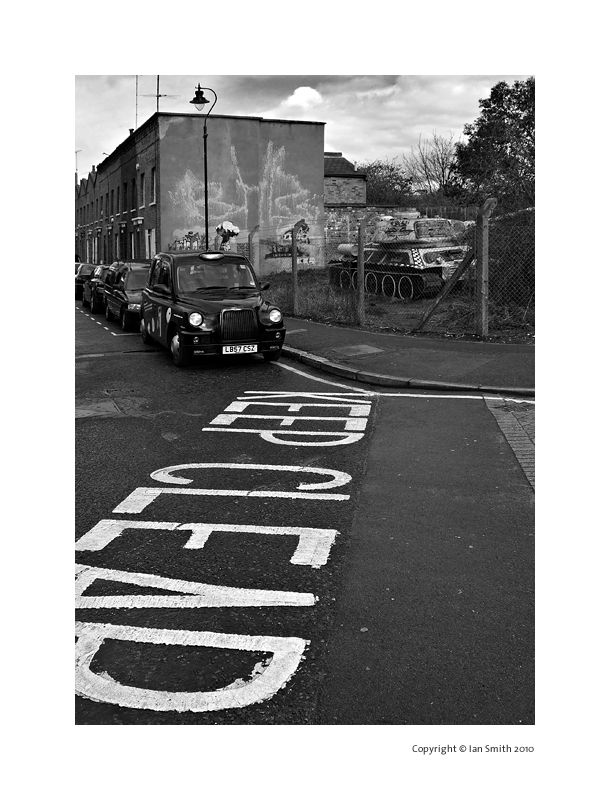 Tank, Taxi, Old Kent Road, London