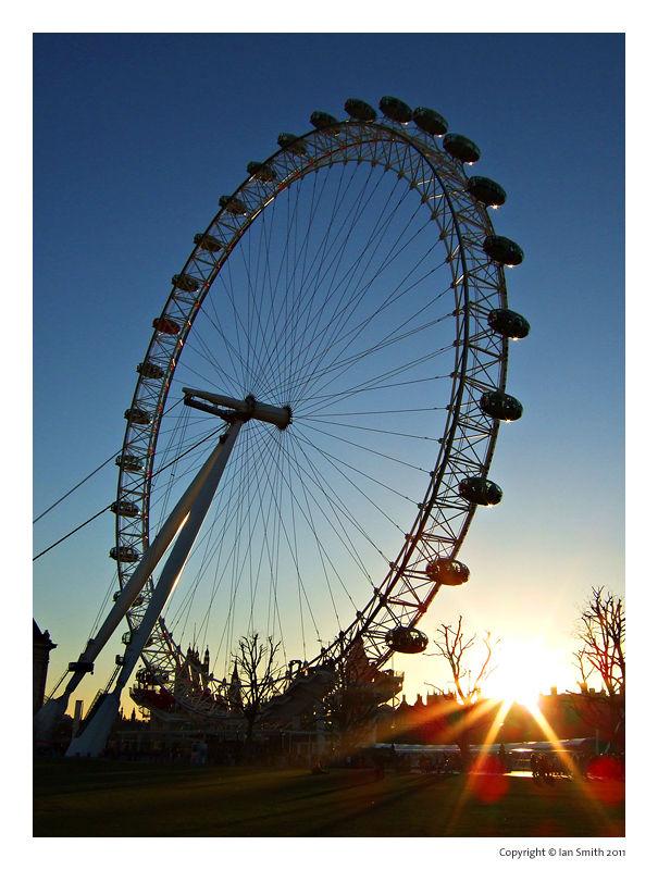 London Eye Sunset