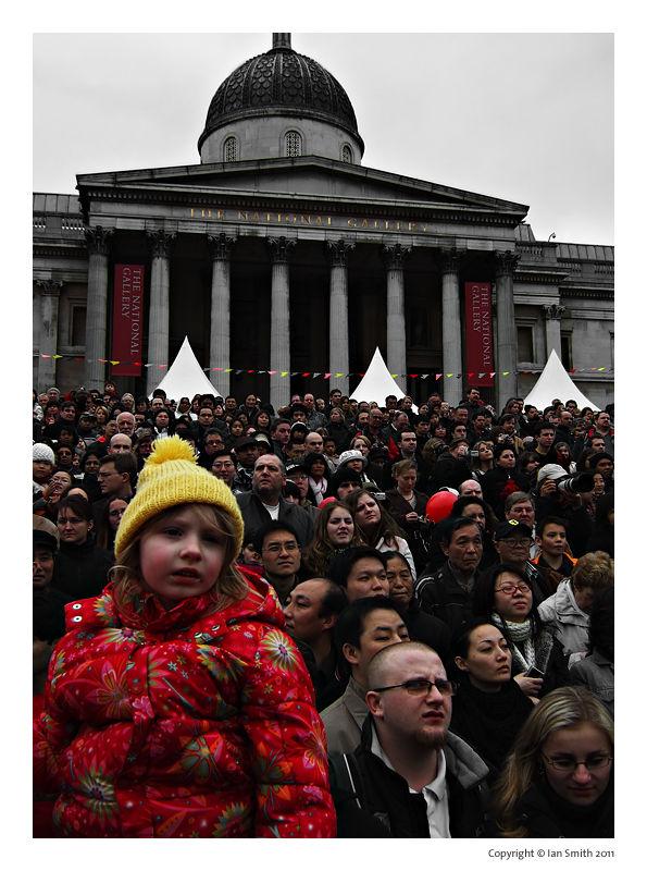 Crowd of people, Trafalgar Square