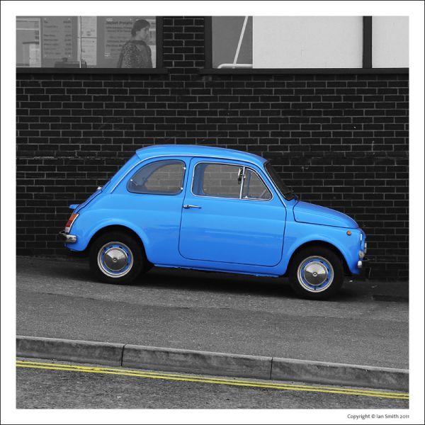 Sky Blue Fiat 500