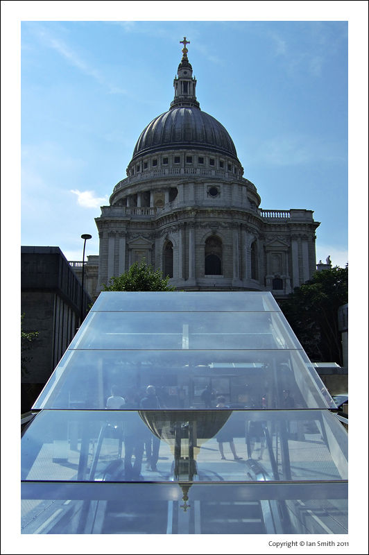 Reflection of St Paul's Cathedral