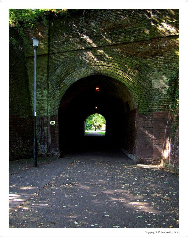 Dark Tunnel in Chinbrook Meadow
