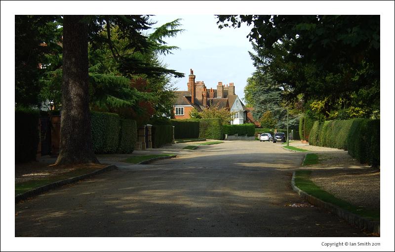 View down Wilderness Road in Chislehurst