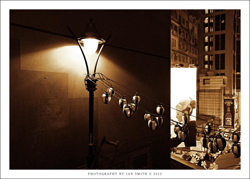 An old light off Wyndham Street