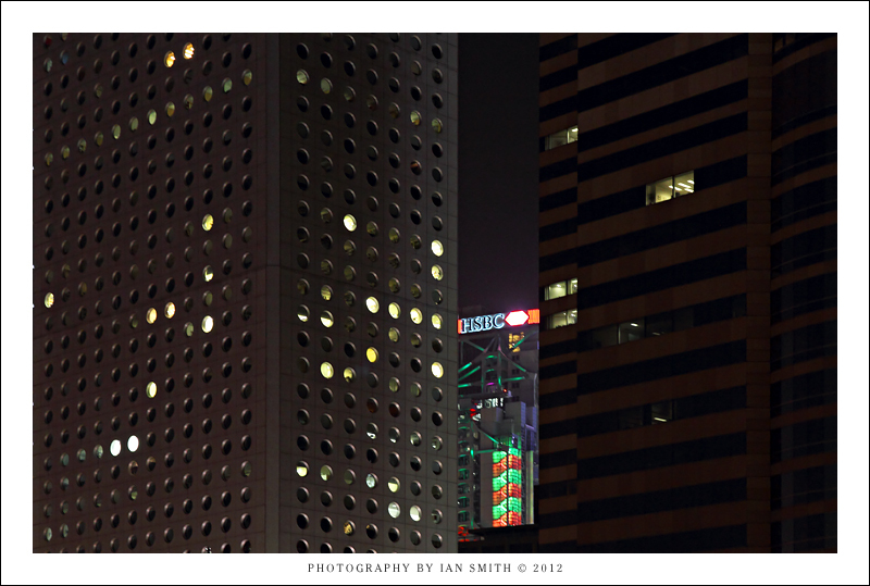 Cropping of buildings in Central, Hong Kong