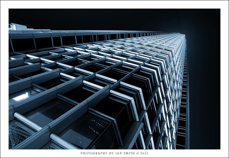 Detail of the 2IFC tower in Hong Kong