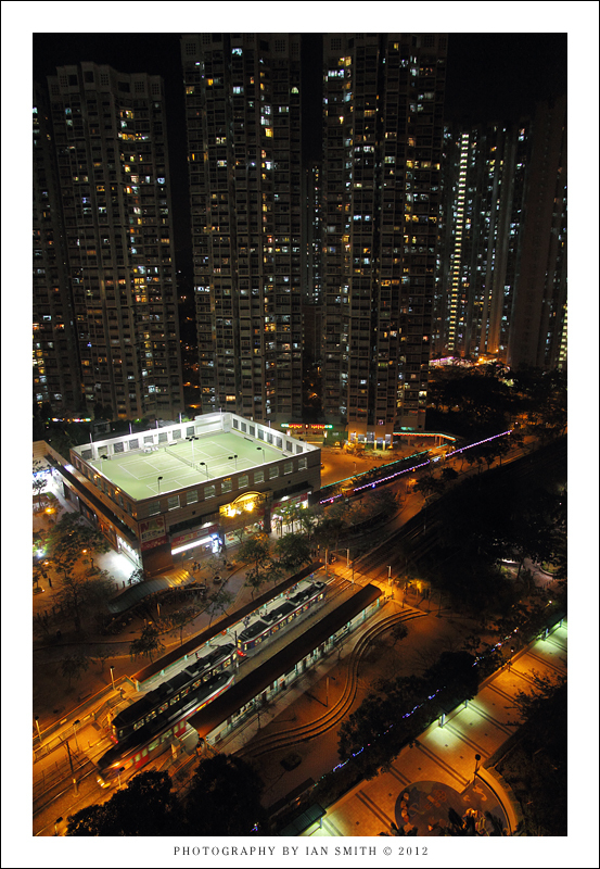 View above Locwood Stop on the MTR, Hong Kong