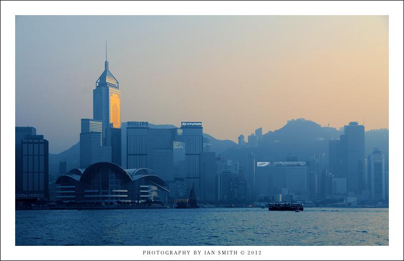 Cold sunset over Hong Kong