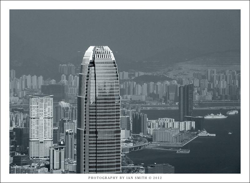 The top of 2IFC, Hong Kong