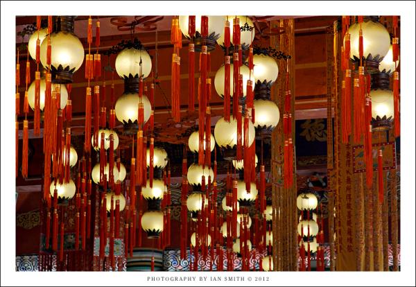 Inside the Po Lin Monastery