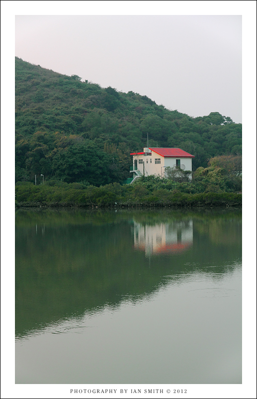 Lone house and lake in Tai O