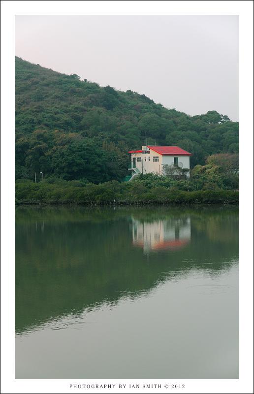 Lone house and lake in Tai O