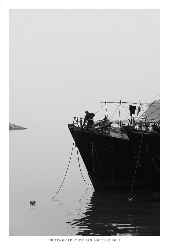 Silhouette of a ship Captain, Tai O