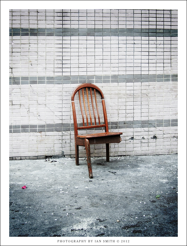 A 3 legged chair in Yuen Long