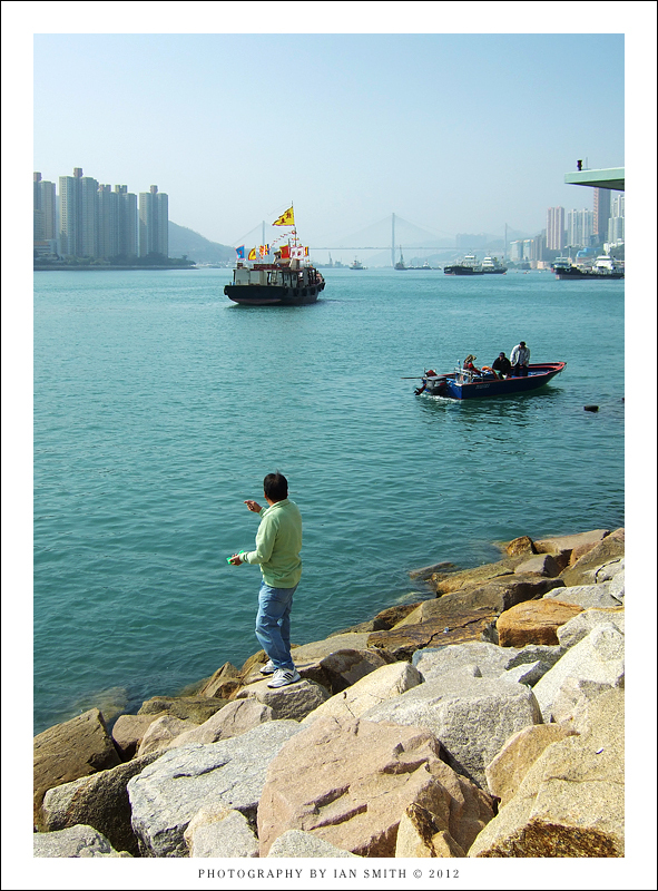 Fishing in West Tsuen Wan