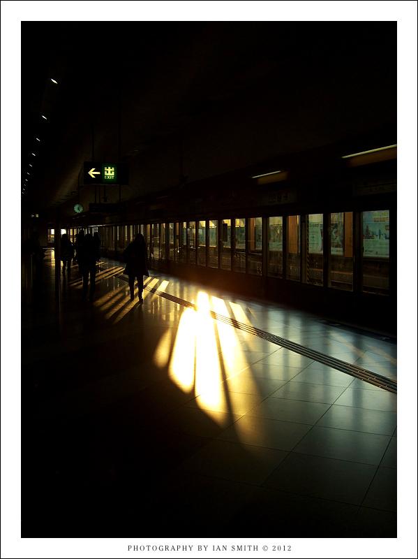 Inside Tin Shui Wai MTR station