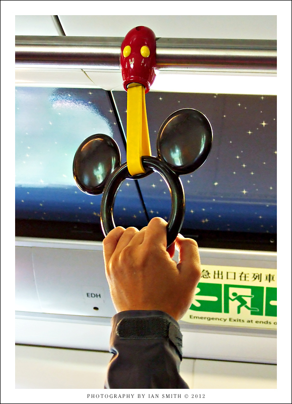 Holding on in the Disneyland Express