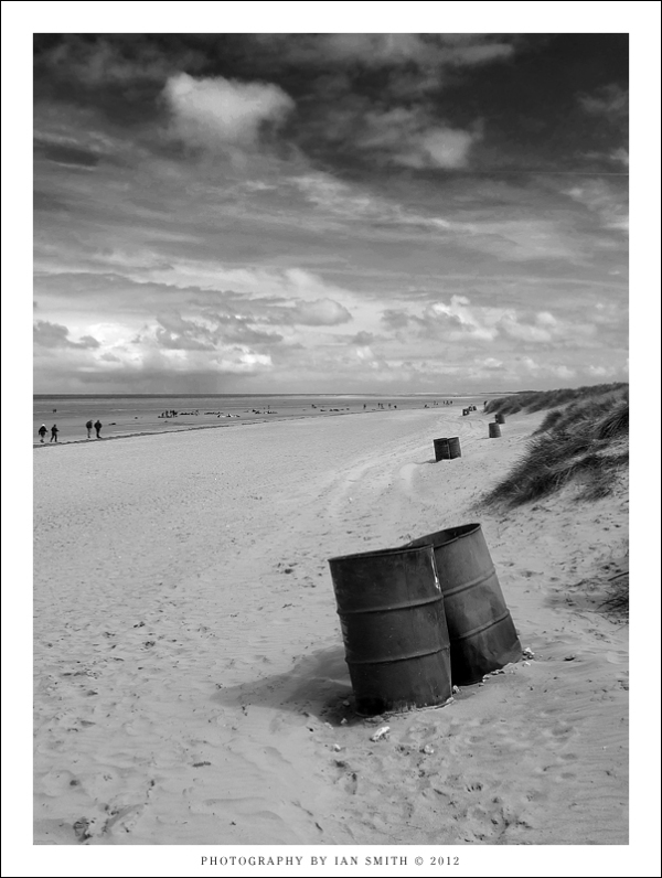 On the beach at Hunstanton