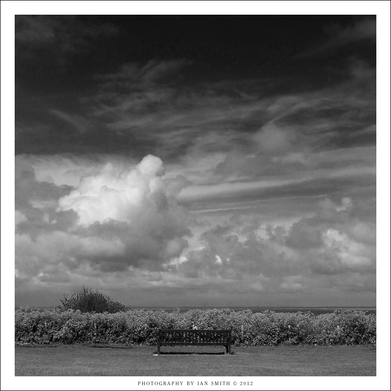 Dramatic sky view at Hunstanton, Norfolk