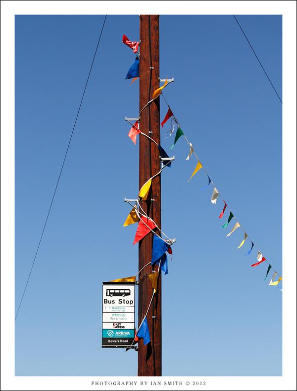Bus stop in Shoreham, Kent