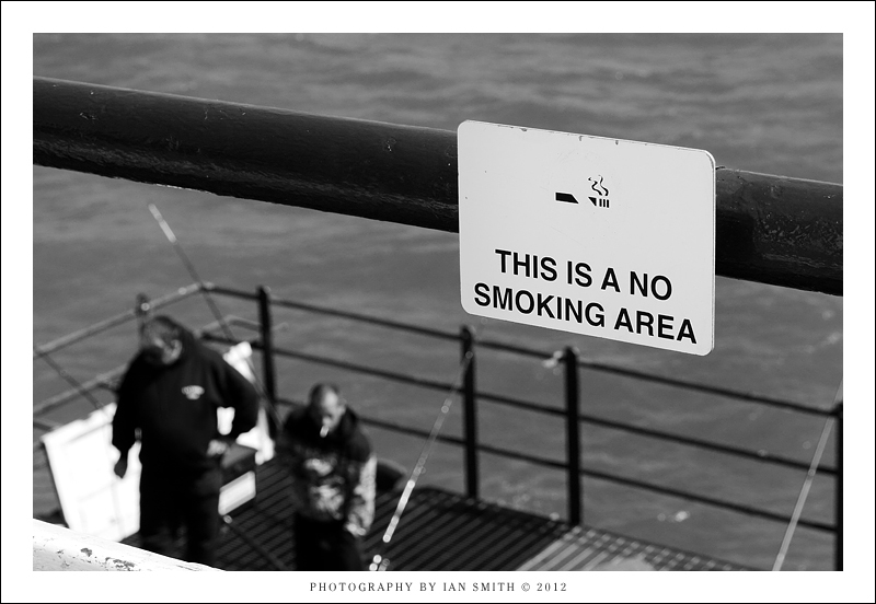 Smokers on Eastbourne Pier
