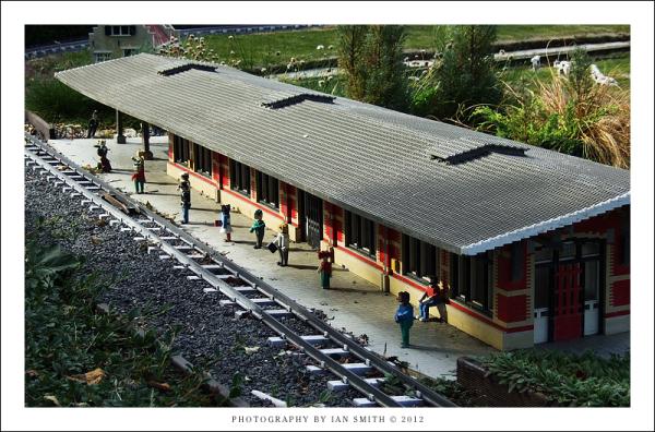 A train station at Legoland Windsor