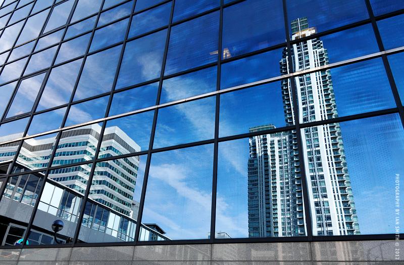 Modern London buildings in Millwall