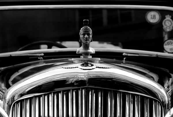 Front detail of an old Bentley