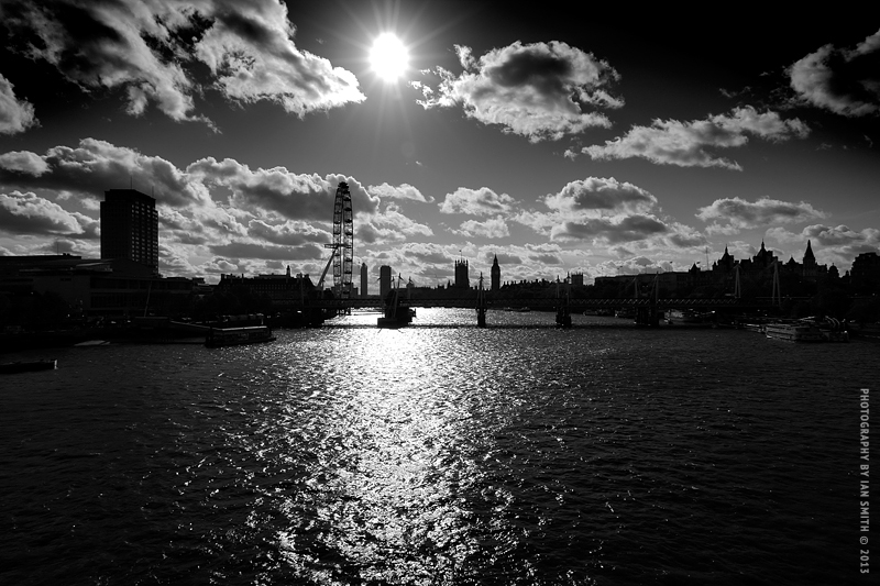 View from Waterloo Bridge, London