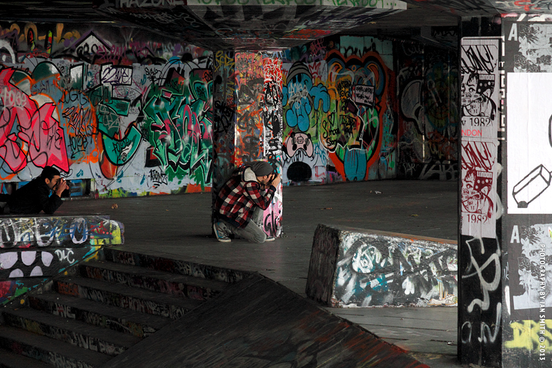 Urban Camouflage in The Undercroft, London