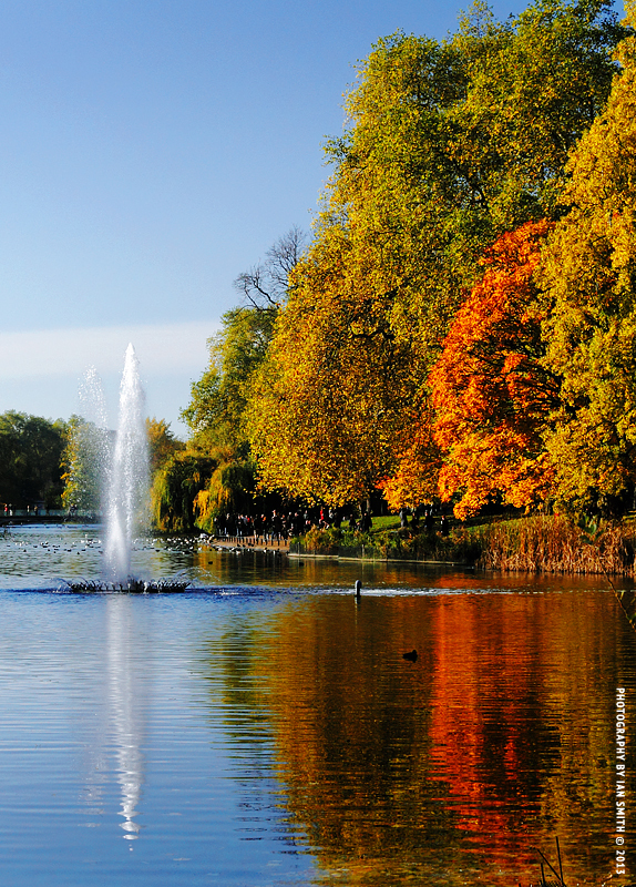 Autumn in St James's Park, London