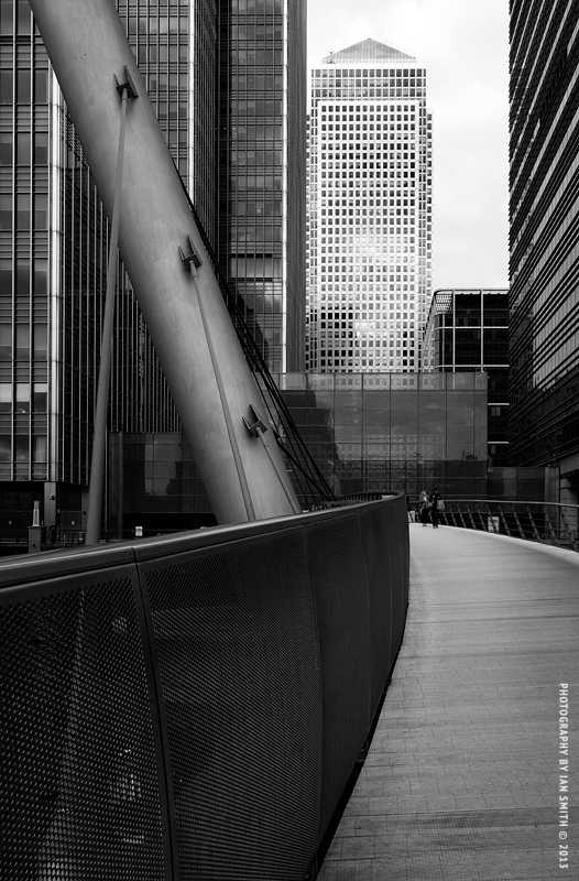 View on South Quay Footbridge, Canary Wharf