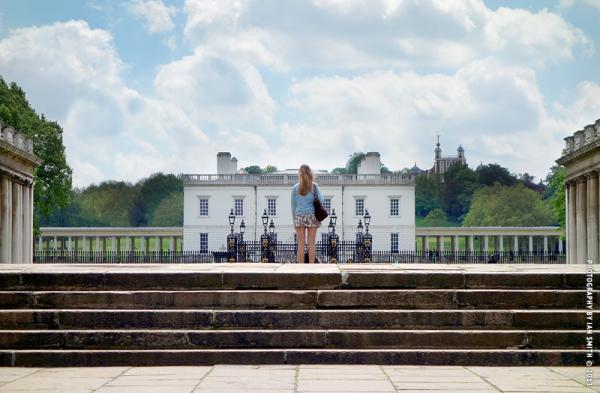 Girl standing in Greenwich