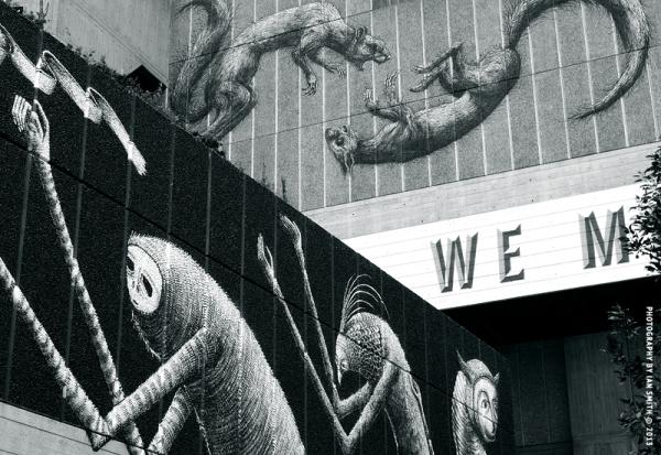 Wall art on London's Southbank