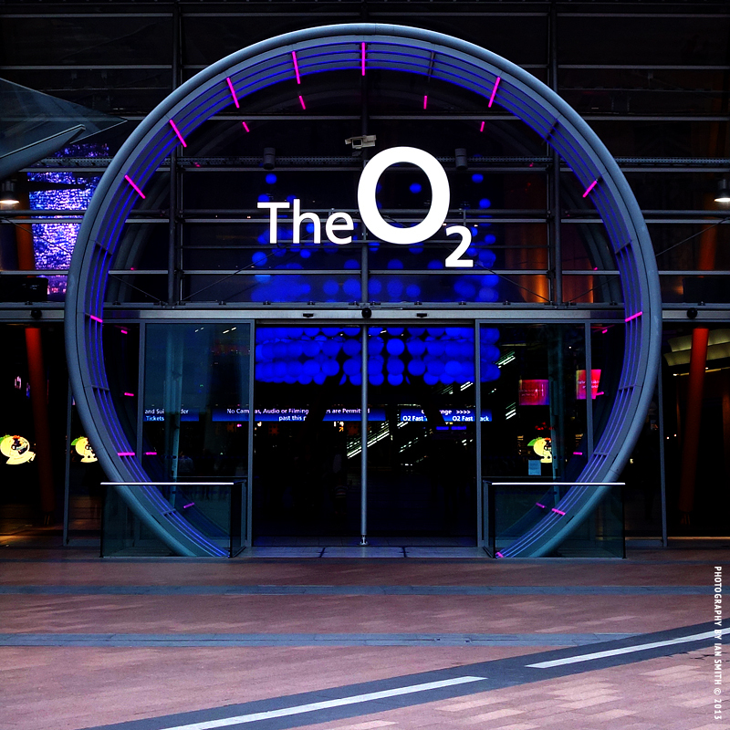 Entrance to the O2 Arena