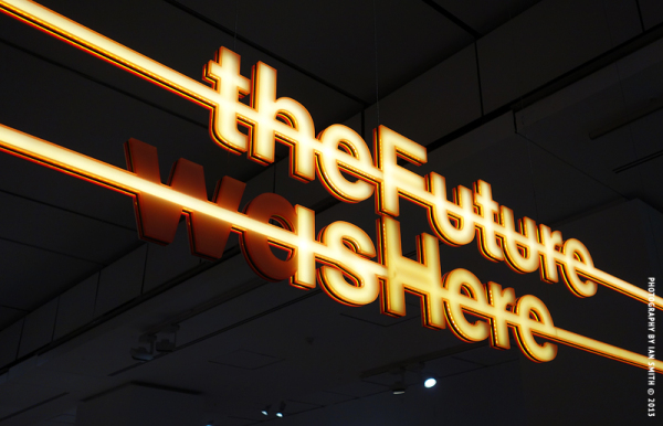 neon sign at the Design Museum, London