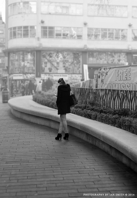 Girl in Leicester Square, London