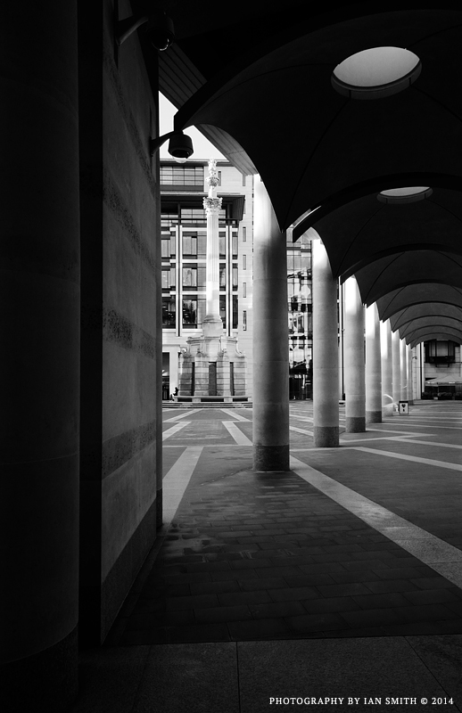 Entering Paternoster Square, London