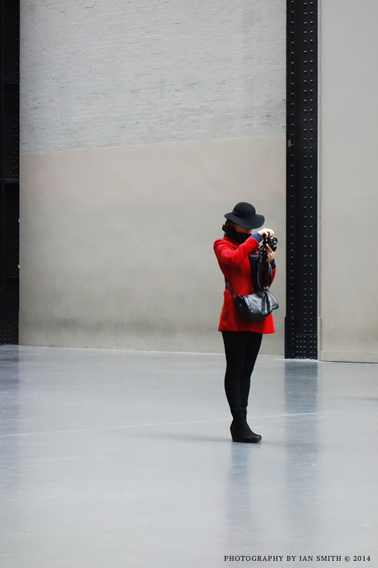 Lady Photographer in Tate Modern, London