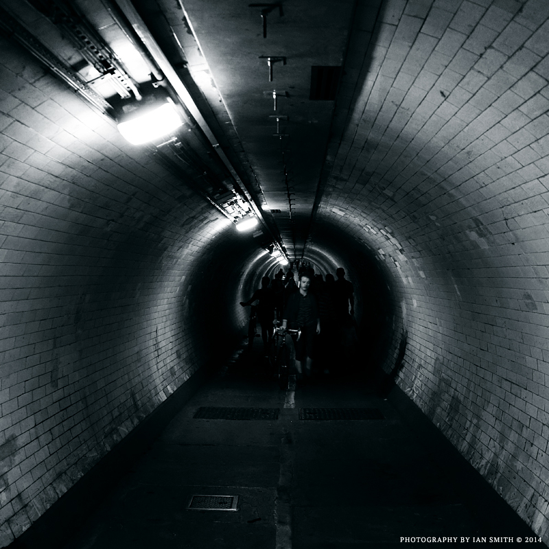 Shadows of the Greenwich Foot Tunnel