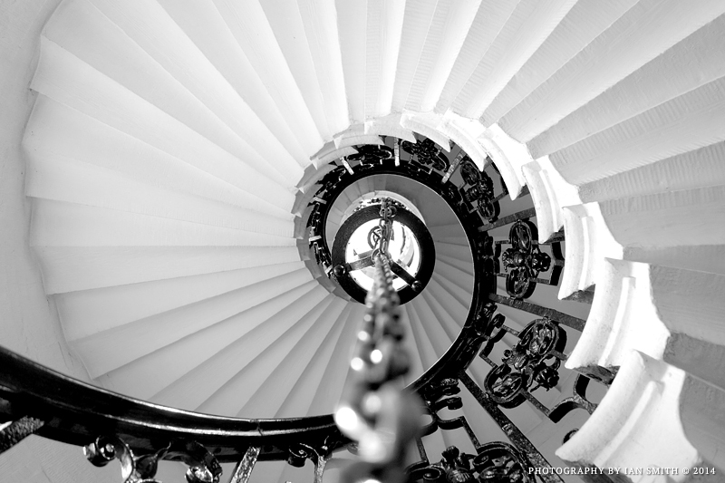 Spiral Staircase in Queen Mary Court, Greenwich
