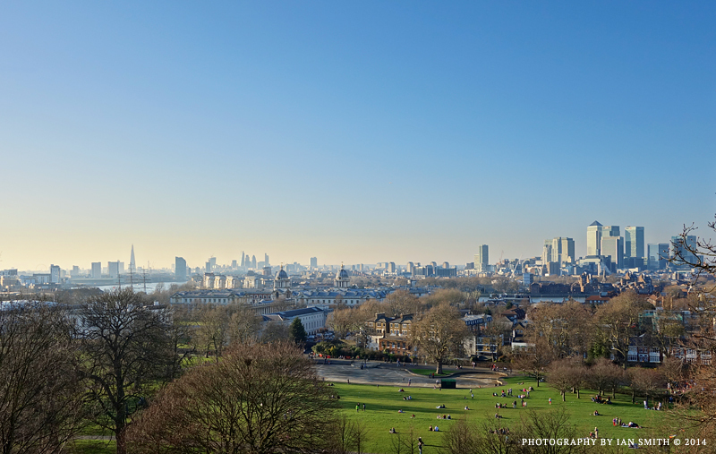 View across London from Greenwich Park