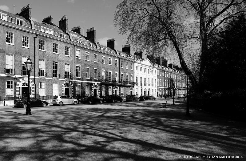 Traditional houses on Bedford Square, London