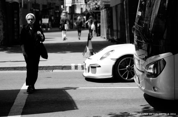 Crossing the road in London