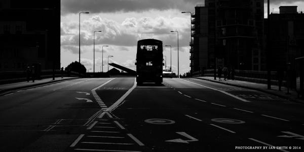 Bus on Vauxhall Bridge, London